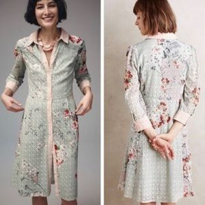 Anthropologie Varun Bahl Eyelet Shirt Dress
